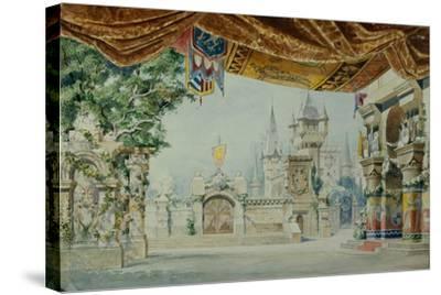 Stage Design for the Ballet Raimonda by A. Glazunov, 1899-Konstantin Matveevich Ivanov-Stretched Canvas Print