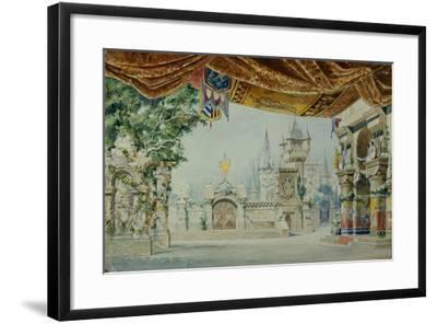 Stage Design for the Ballet Raimonda by A. Glazunov, 1899-Konstantin Matveevich Ivanov-Framed Giclee Print