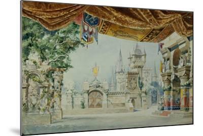 Stage Design for the Ballet Raimonda by A. Glazunov, 1899-Konstantin Matveevich Ivanov-Mounted Giclee Print