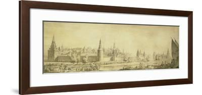 Panoramic View of Moscow Kremlin by the End of the 18th Century, End 1790s-Giacomo Antonio Domenico Quarenghi-Framed Giclee Print