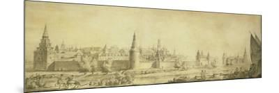 Panoramic View of Moscow Kremlin by the End of the 18th Century, End 1790s-Giacomo Antonio Domenico Quarenghi-Mounted Giclee Print