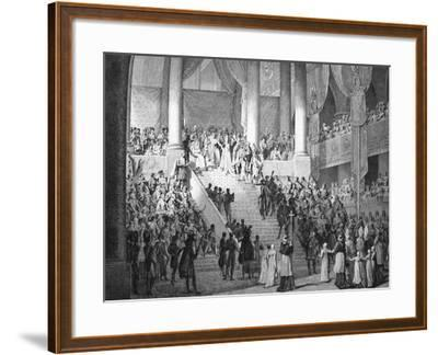 Consecration of Napoleon and Coronation of Josephine by Pope Pius VII, 2nd December 1804--Framed Giclee Print