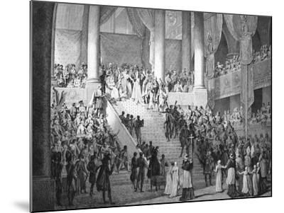 Consecration of Napoleon and Coronation of Josephine by Pope Pius VII, 2nd December 1804--Mounted Giclee Print