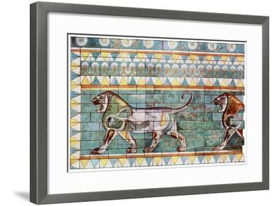 The Lion Frieze from King Darius' Winter Palace at Susa, Iran, 1933-1934--Framed Giclee Print