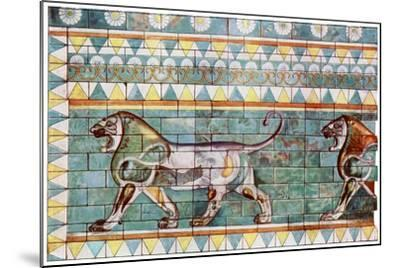 The Lion Frieze from King Darius' Winter Palace at Susa, Iran, 1933-1934--Mounted Giclee Print