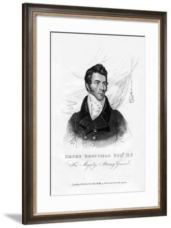 Henry Brougham, Attorney General, 1820--Framed Giclee Print