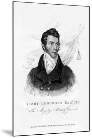 Henry Brougham, Attorney General, 1820--Mounted Giclee Print