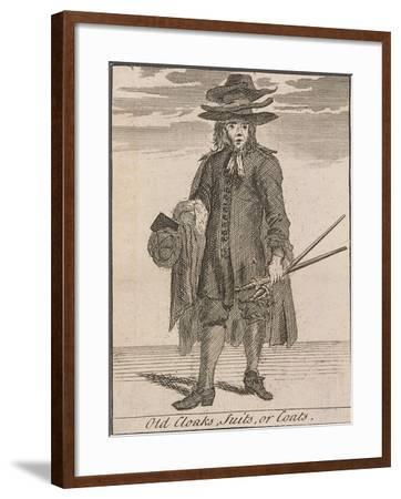 Old Cloaks, Suits, or Coats, Cries of London-Marcellus Laroon-Framed Giclee Print