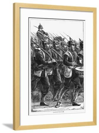 Prussian Soldiers on the March, Franco-Prussian War, September 1870--Framed Giclee Print