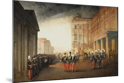 Parade in Front of the Anichkov Palace on 26 February 1870, 1870-Mihály Zichy-Mounted Giclee Print