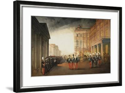 Parade in Front of the Anichkov Palace on 26 February 1870, 1870-Mihály Zichy-Framed Giclee Print