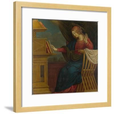 The Virgin Mary (Panel from an Altarpiece: the Annunciatio), before 1511-Gaudenzio Ferrari-Framed Giclee Print