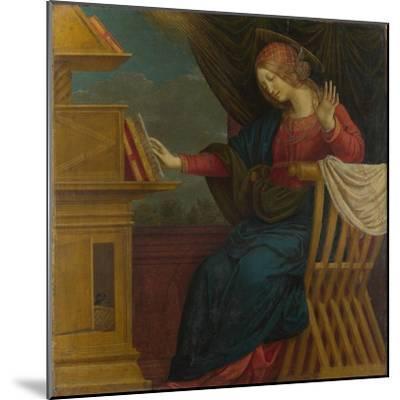 The Virgin Mary (Panel from an Altarpiece: the Annunciatio), before 1511-Gaudenzio Ferrari-Mounted Giclee Print