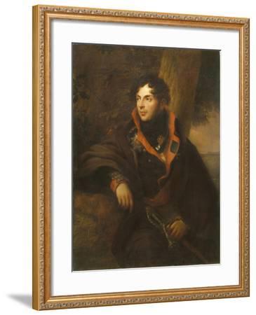 Portrait of Count Nikolay Mikhailovich Kamensky (1776-181), 1810-Friedrich Georg Weitsch-Framed Giclee Print