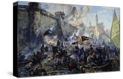 The Russian Army Capturing Narva on May 11, 1558, 1956-Alexander Alexandrovich Blinkov-Stretched Canvas Print