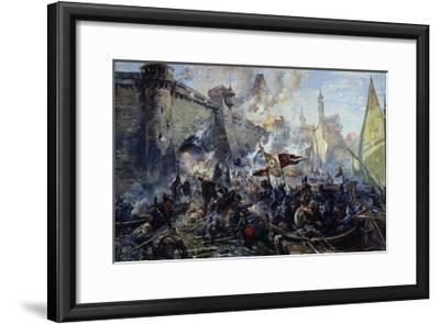 The Russian Army Capturing Narva on May 11, 1558, 1956-Alexander Alexandrovich Blinkov-Framed Giclee Print