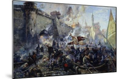 The Russian Army Capturing Narva on May 11, 1558, 1956-Alexander Alexandrovich Blinkov-Mounted Giclee Print