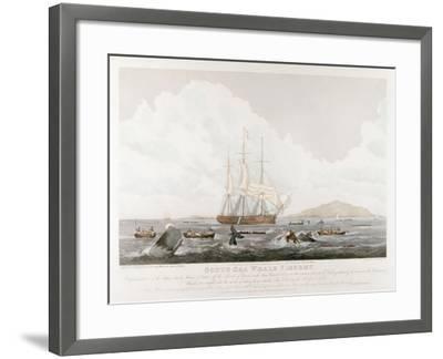 South Sea Whale Fishery, 1825-John Huggins-Framed Giclee Print