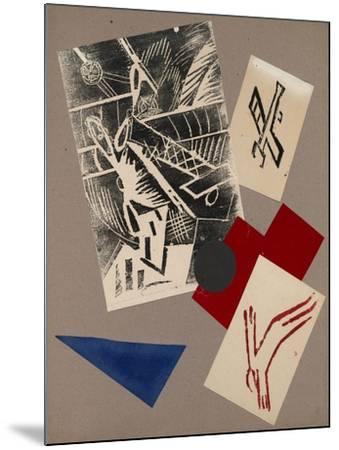 Illustration for the Book the War by Aleksey Kruchenykh, 1916-Olga Vladimirovna Rozanova-Mounted Giclee Print