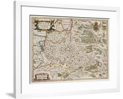 Map of Western Russia (From: Partes Septentrionalis Et Orientali), 1664-Isaac Abrahamsz Massa-Framed Giclee Print
