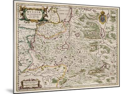 Map of Western Russia (From: Partes Septentrionalis Et Orientali), 1664-Isaac Abrahamsz Massa-Mounted Giclee Print