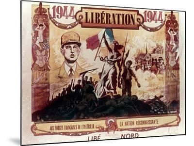 World War 2: Liberation of France, 1944--Mounted Giclee Print