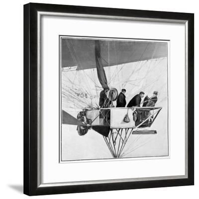 Maurice Berteaux, Minister for the War in the Lebaudy Airship, 3rd November 1905--Framed Giclee Print