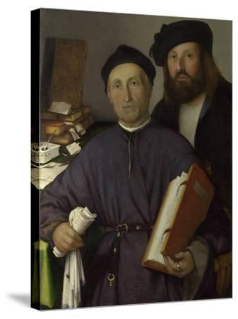 The Physician Giovanni Agostino Della Torre and His Son, Niccolò, Ca 1515-Lorenzo Lotto-Stretched Canvas Print
