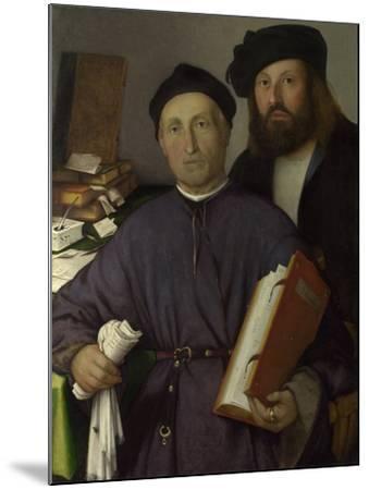 The Physician Giovanni Agostino Della Torre and His Son, Niccolò, Ca 1515-Lorenzo Lotto-Mounted Giclee Print