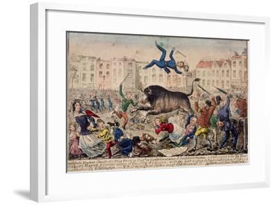Smithfield Market, London, C1855--Framed Giclee Print