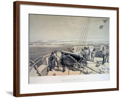 View of Sevastopol from the Sea, 1855-William Simpson-Framed Giclee Print
