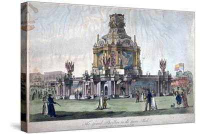 Temple of Concord, Green Park, Westminster, London, 1814--Stretched Canvas Print