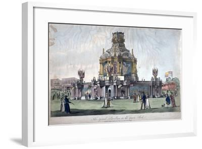 Temple of Concord, Green Park, Westminster, London, 1814--Framed Giclee Print