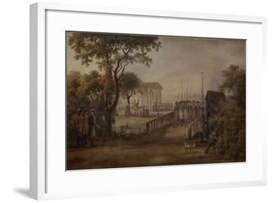 Changing of the Guard at the Tsarina?S Meadow in Saint Petersburg, 1799-Mikhail Matveevich Ivanov-Framed Giclee Print