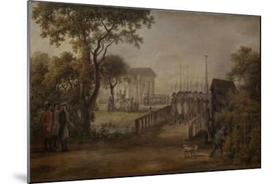 Changing of the Guard at the Tsarina?S Meadow in Saint Petersburg, 1799-Mikhail Matveevich Ivanov-Mounted Giclee Print