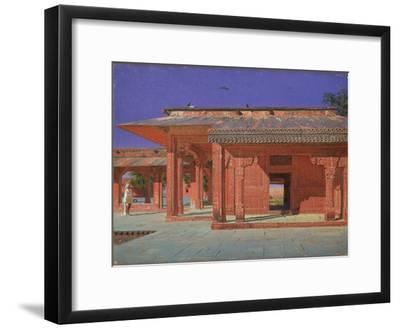 Courtyard of the Harem in the Fatehpur Sikri Imperial Palace, 1874-1876-Vasili Vasilyevich Vereshchagin-Framed Giclee Print