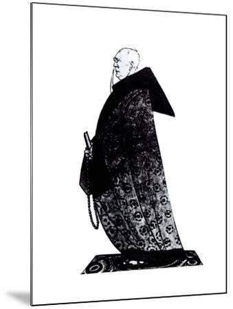 Fyodor Sologub Drawing for the Magazin Satirikon, 1913-Viktor Nikolaevich Deni-Mounted Giclee Print