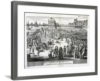 Burning of Heretics Sentenced by the Inquisition, 1759--Framed Giclee Print