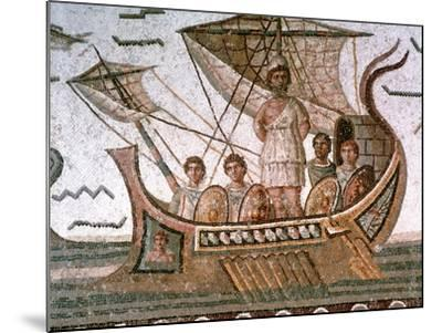 Ulysses and the Sirens, Roman Mosaic, 3rd Century Ad--Mounted Giclee Print