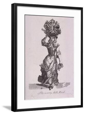The Merry Milk Maid, Cries of London-Marcellus Laroon-Framed Giclee Print