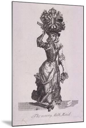 The Merry Milk Maid, Cries of London-Marcellus Laroon-Mounted Giclee Print