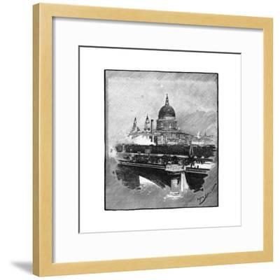 Blackfriars Bridge and St Paul's Cathedral, London--Framed Giclee Print