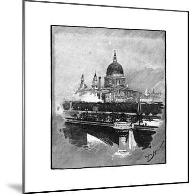 Blackfriars Bridge and St Paul's Cathedral, London--Mounted Giclee Print