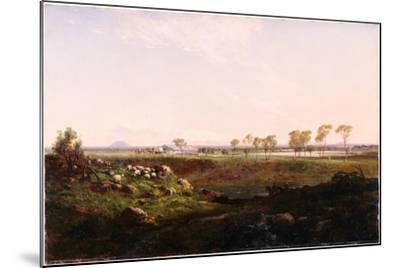 Mount Fyans Woolshed (The Woolshed Near Camperdow), 1869-Louis Buvelot-Mounted Giclee Print