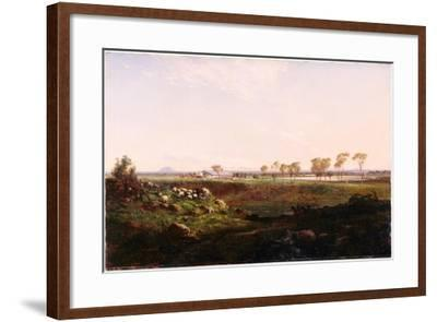 Mount Fyans Woolshed (The Woolshed Near Camperdow), 1869-Louis Buvelot-Framed Giclee Print