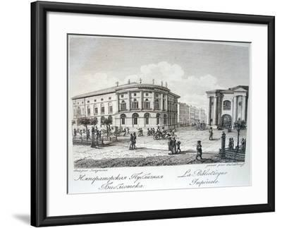 The Imperial Library in Saint Petersburg, Early 19th C-Stepan Philippovich Galaktionov-Framed Giclee Print