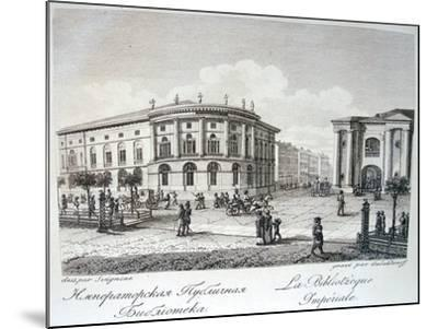 The Imperial Library in Saint Petersburg, Early 19th C-Stepan Philippovich Galaktionov-Mounted Giclee Print