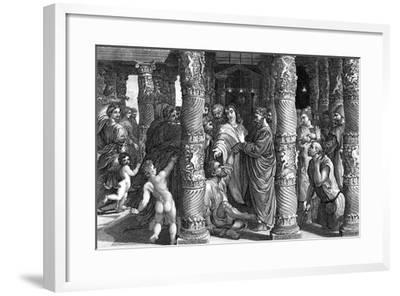 Peter and John at the Beautiful Gate--Framed Giclee Print