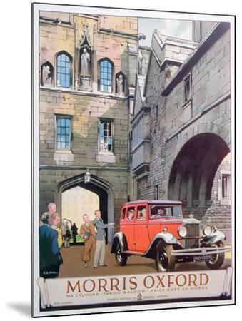 Advert for the Morris Oxford Motor Car, 1930--Mounted Giclee Print