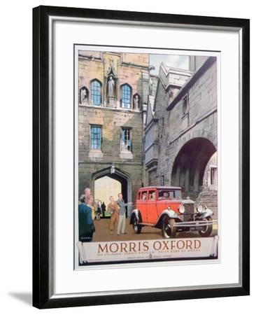 Advert for the Morris Oxford Motor Car, 1930--Framed Giclee Print